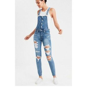 AE Distressed Jegging High Rise Stretch Overalls